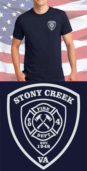 Screen Print Design Stony Creek Fire Department Maltese CrossFire Department Clothing