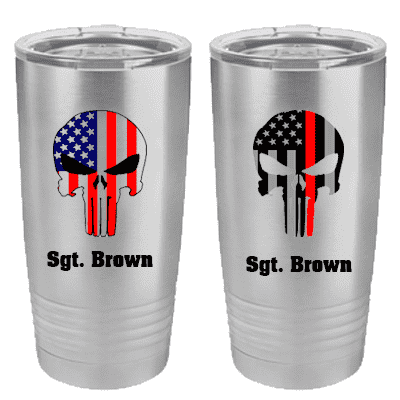 Custom Skull Polar Vacuum Insulated Tumbler - STM621 - SUB