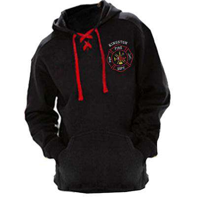 Embroidered Hooded Hockey Style Sweatshirt with Scramble Maltese - J America - JA8830