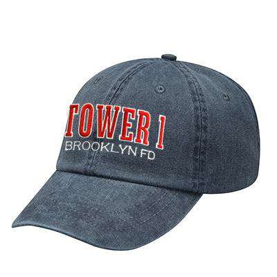 Off-Duty Fire Department Tower Company Pigment Dyed Cap - Adams - AD969