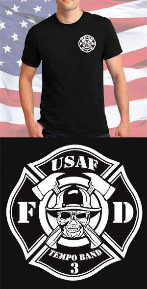 Screen Print Design USAF Fire Department Maltese CrossFire Department Clothing