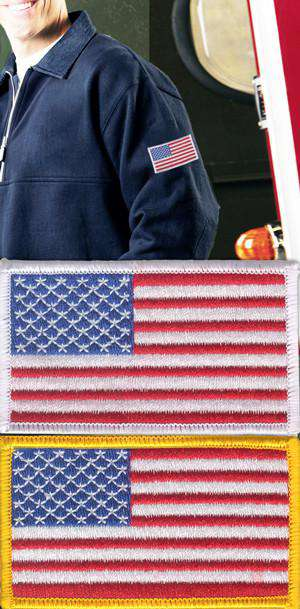 Customization Left Sleeve American Flag PatchFire Department Clothing
