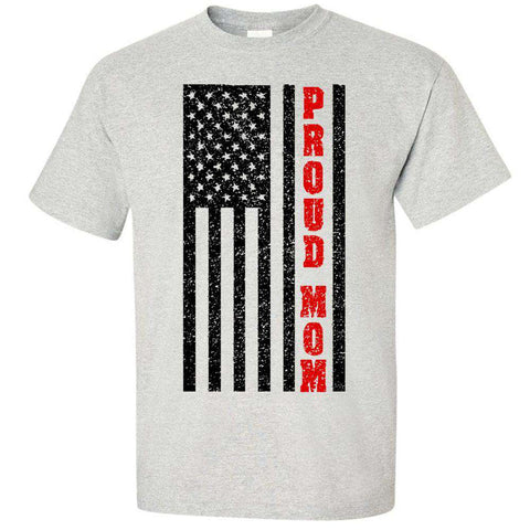 "Printed Firefighter Shirt - ""Proud Mom"" - Gildan 200- DTG"