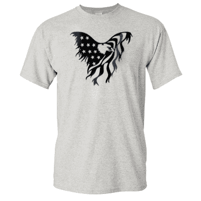 "Printed Thin Blue Line Police Officer Shirt - ""Patriotic Eagle"" - Gildan G200 - DTGFire Department Clothing"