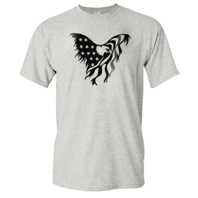 "Printed Thin Green Line EMS Shirt - ""Patriotic Eagle"" - Gildan G200 - DTGFire Department Clothing"