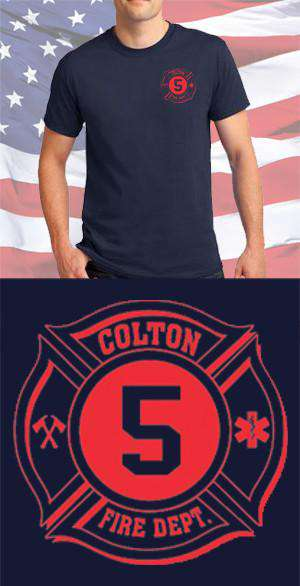 Screen Print Design Colton Fire Department Maltese CrossFire Department Clothing