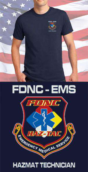 Screen Print Design FDNC EMS Hazmat Maltese CrossFire Department Clothing