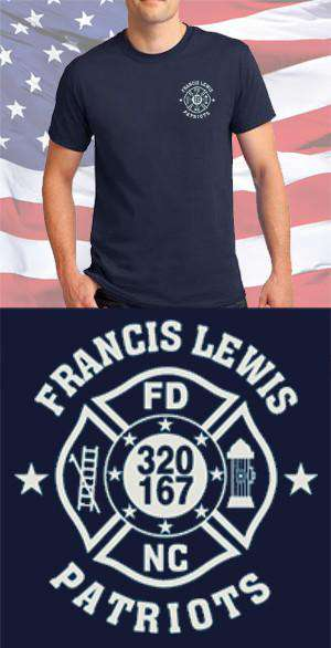 Screen Print Design Francis Lewis Fire Department Maltese CrossFire Department Clothing