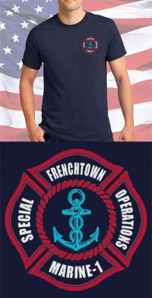 Screen Print Design Frenchtown Fire Department Special Operations Maltese CrossFire Department Clothing