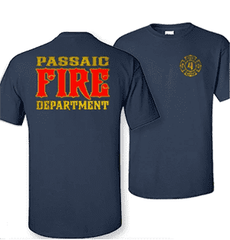 Cad-Cut Garment Custom Traditional Firefighter Department Design - Gildan 200 - CADFire Department Clothing