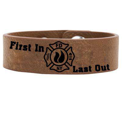 First In - Last Out - Faux Leather Cuff Bracelet - LZRFire Department Clothing