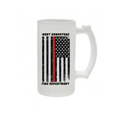 Frosted Mug with Distressed American Flag Design - SG16F - SUB