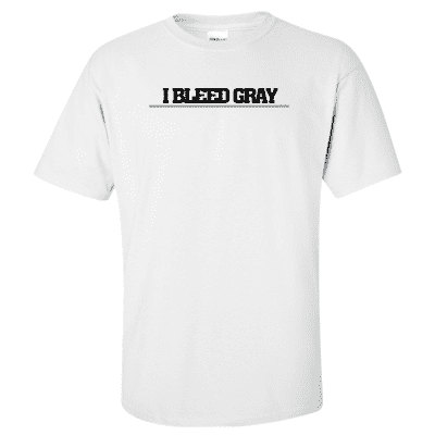 "Printed Thin Gray Line Corrections Officer Shirt - ""I Bleed Gray"" - Gildan G200 - DTG"