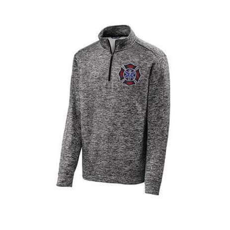 Sweatshirt PosiCharge Electric Heather Fleece 1/4 Zip Pullover - Sport-Tek - ST226Fire Department Clothing