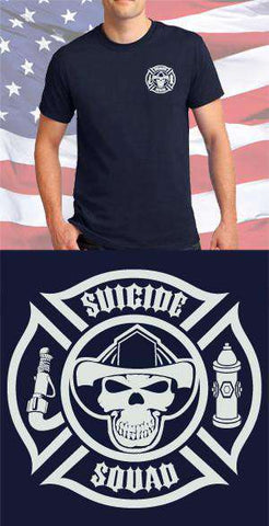 Screen Print Design Suicide Squad Pointed Maltese CrossFire Department Clothing