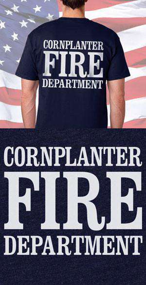 Screen Print Design Cornplanter Fire Department Classic Back DesignFire Department Clothing