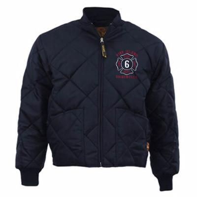 Bravest Firefighter Quilted Jacket