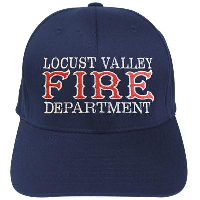Hat with Fire Department in Old Style Flexfit Hat
