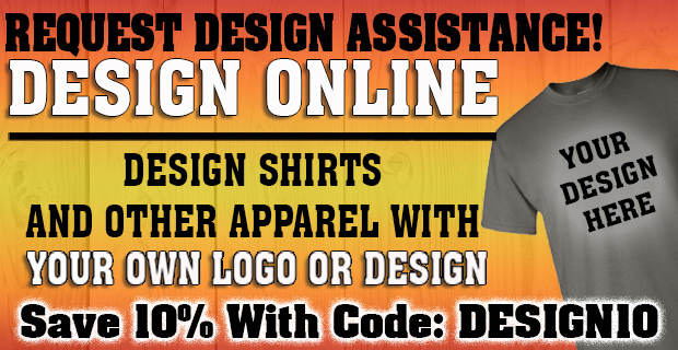 Design Shirts and Other Apparel with your own logo or design
