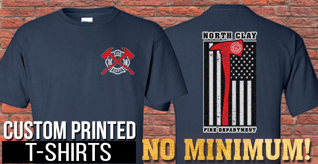 Custom Printed T-Shirts - No Minimums