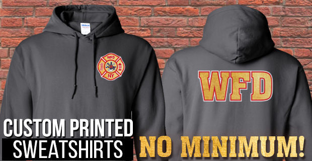 Custom Printed Sweatshirts - No Minimums