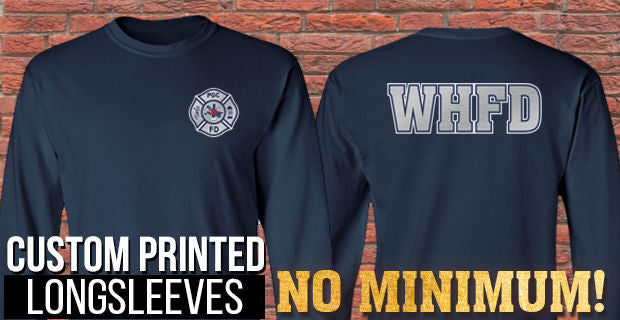 Custom Printed Long Sleeves - No Minimums