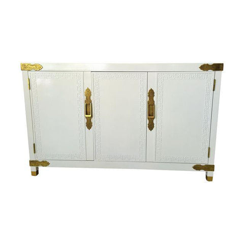 SOLD Century Chinoiserie Fretwork Cabinet