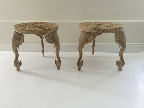 SOLD Gampel Stoll Elephant Tables, Pair