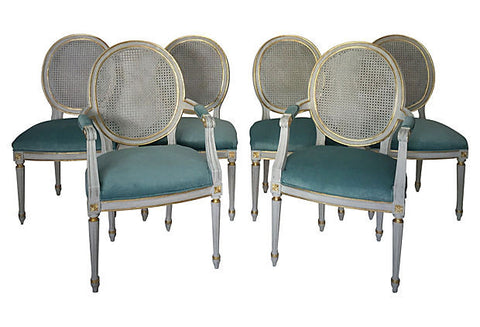 SOLD French Louis XVI Style Chairs, Set 6