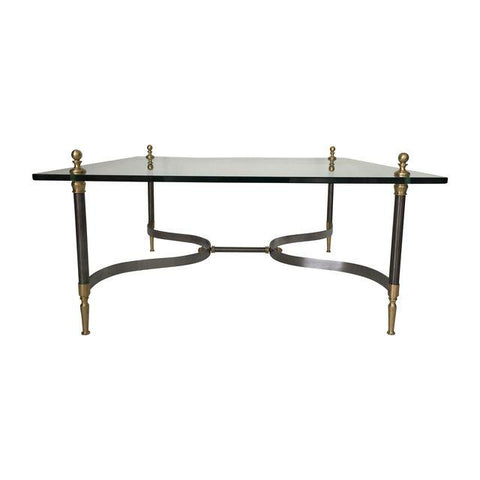 Steel and Brass Jansen Style Table