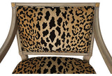 SOLD Leopard Louis XVI Style Chair