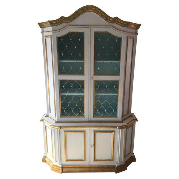 SOLD Painted Gilt Cabinet