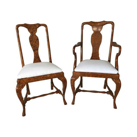 SOLD Chairs Tortoiseshell Finish, Set 6