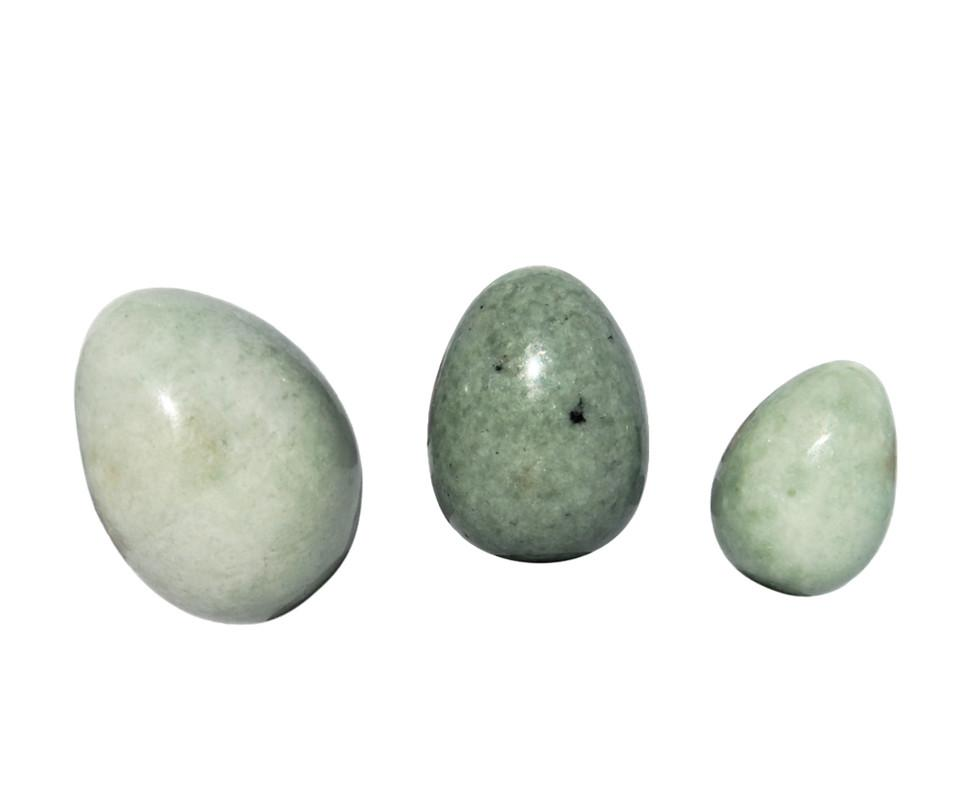 Green jadeite jade eggs