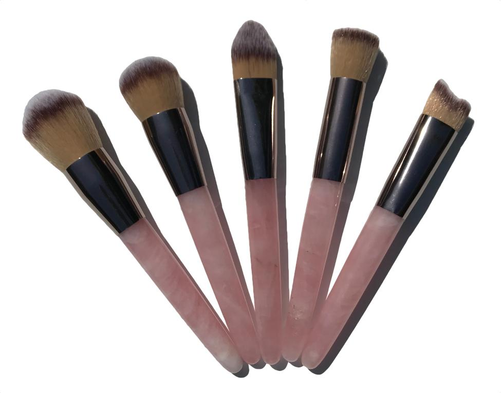 rose quartz make up brush