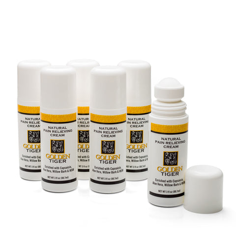 Golden Tiger Pain Relief Cream 3oz Roll-on ( Buy 5 get 1 Free ) Save $14.50