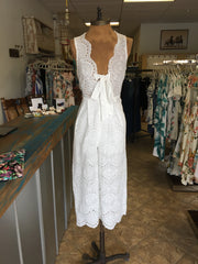 Carly Jumpsuit - White | Feathers n Fringe Boutique