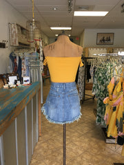 Effie Top - Mustard | Feathers n Fringe Boutique