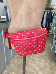 Studded Fanny Pack - Red | Feathers n Fringe Boutique