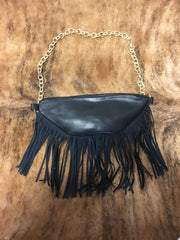 Fringey Fanny Pack - Black | Feathers n Fringe Boutique