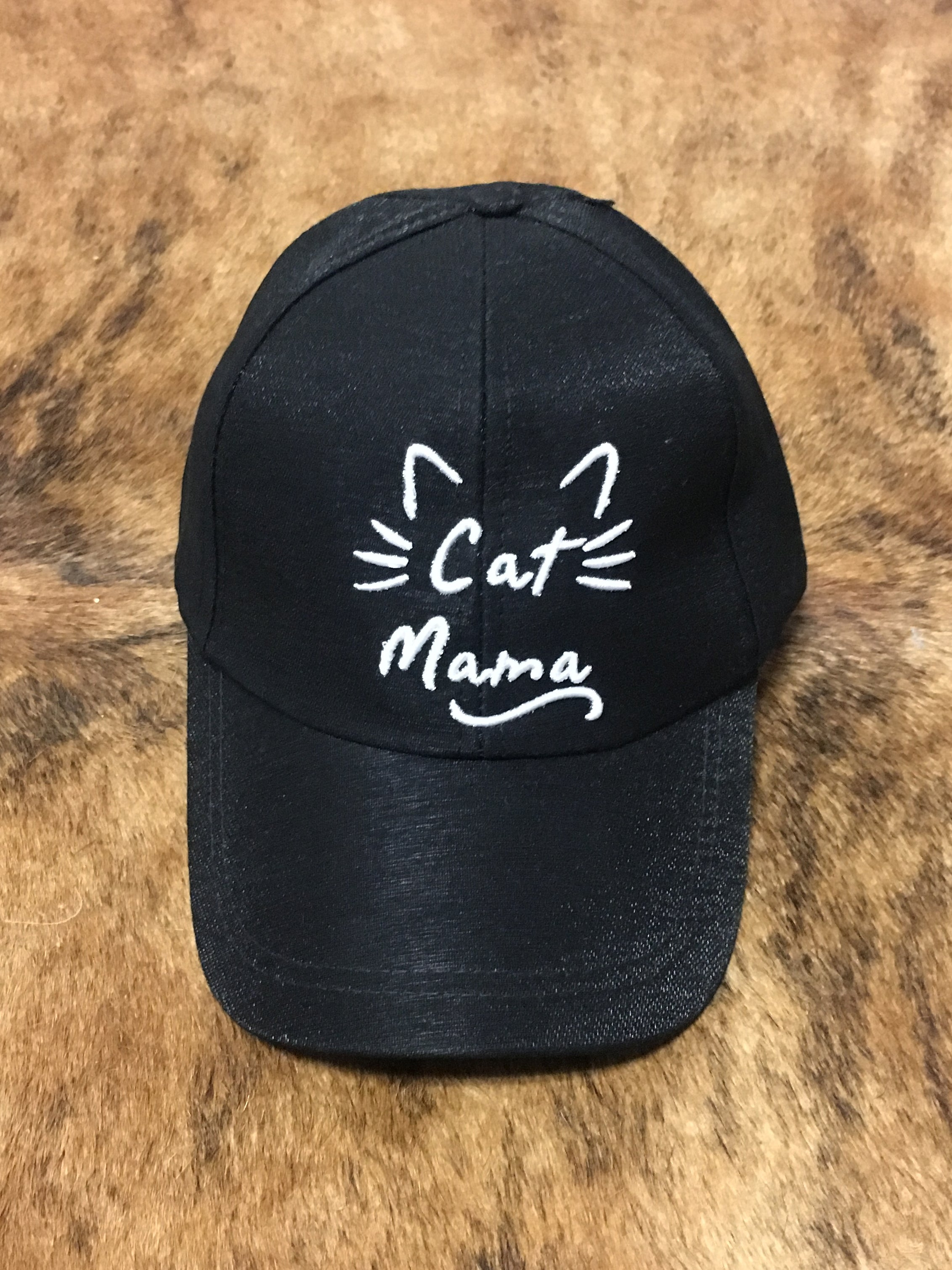 Cat Mama Cap - Black | Feathers n Fringe Boutique