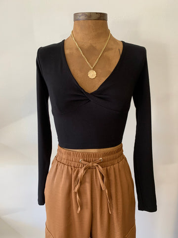 Stace Twist Crop Top