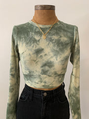 On the Move Tie Dye Crop Top