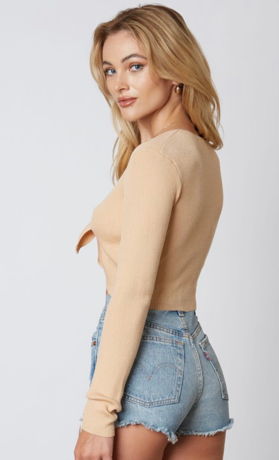 Tie It Up Cropped Sweater