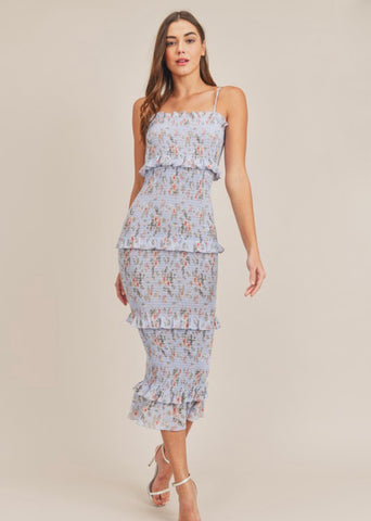 Tea Party Floral Midi Dress