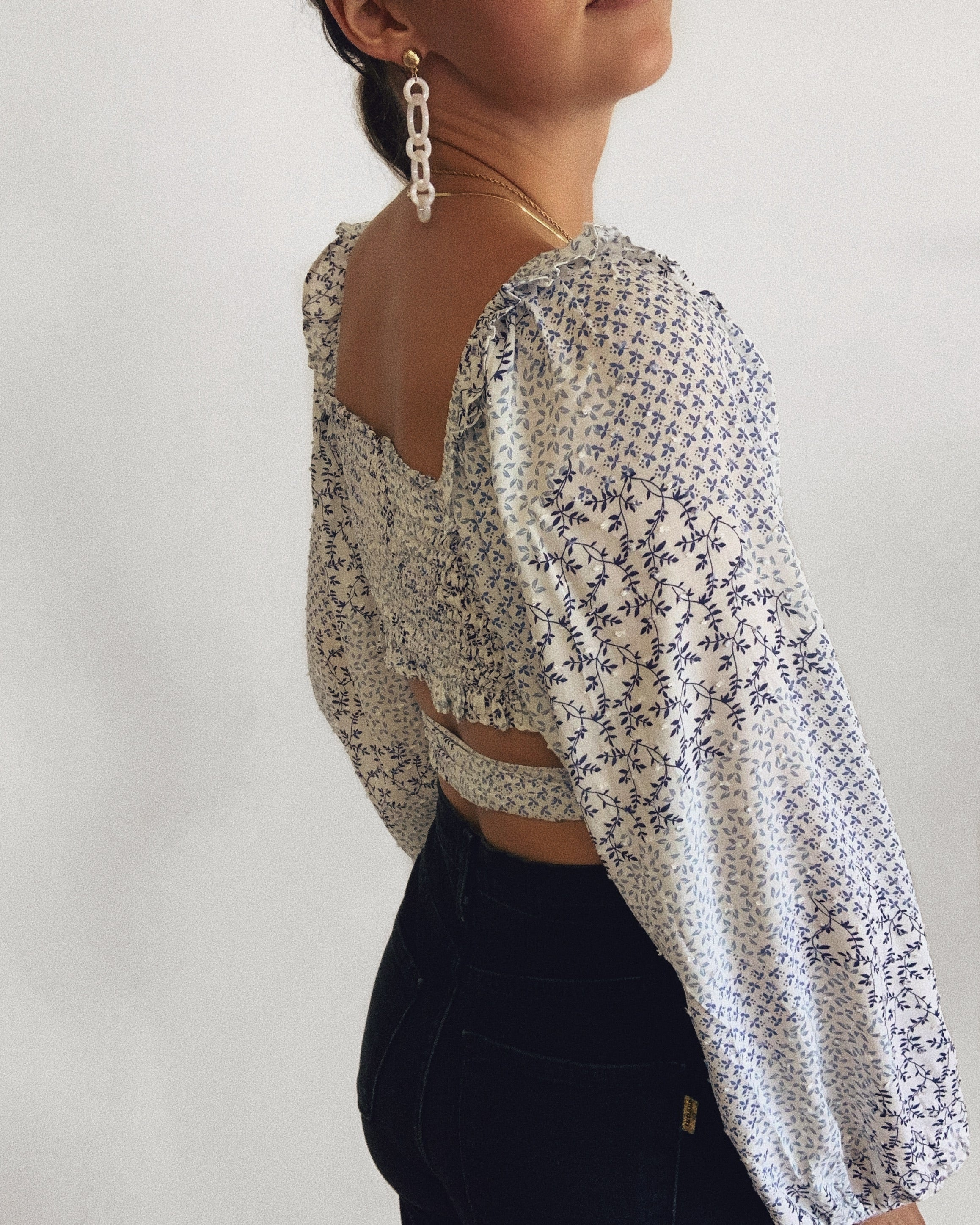 New Beginnings Tie Crop Top