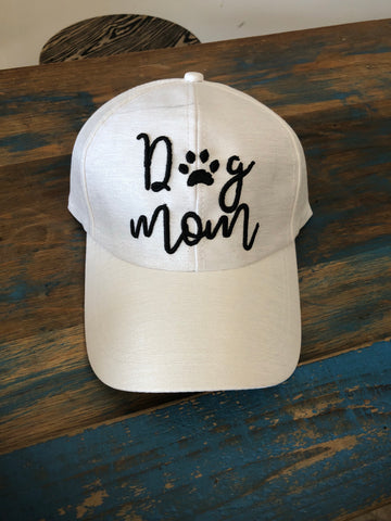 Dog Mom Cap - White