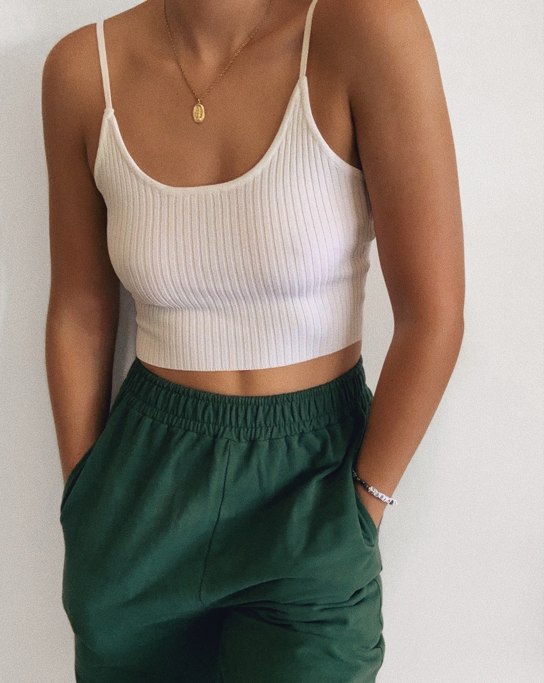 Back To Basics Crop Top - White