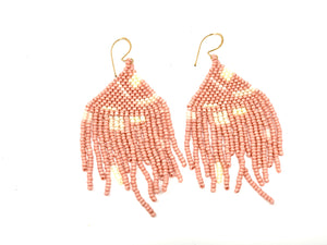 Artist Fringe Earrings - Pink