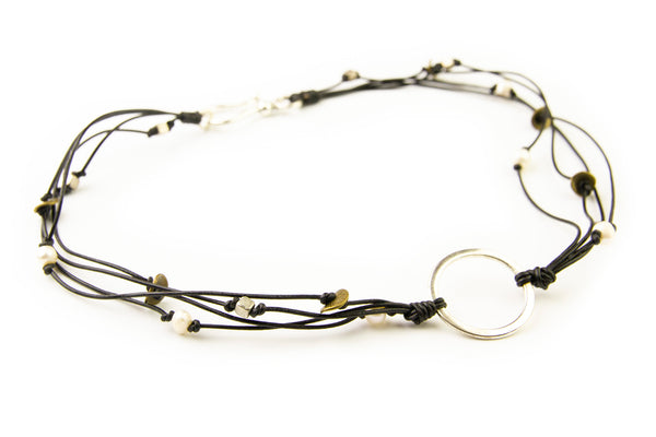 Arun Circle Necklace - Black